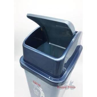 Lion Star Swing N' Toss Swing-Top Wastebasket Recycle Bin, 14 litDustbin, Trash Bin - 3