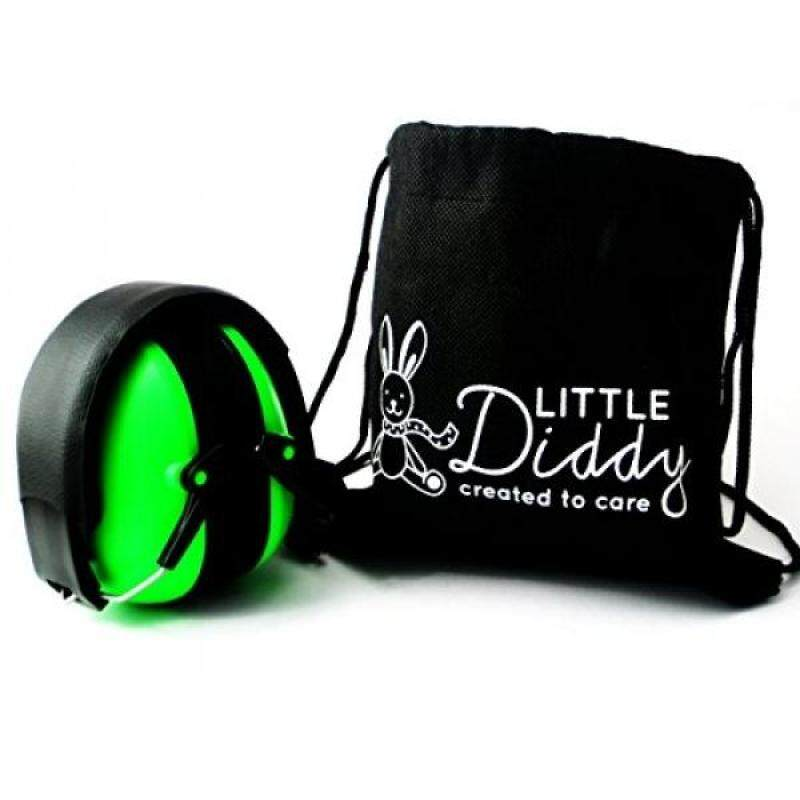 Little Diddy Kids Ear Defenders For Children-Carry Bag Included- Available in Green, Red, Blue and Pink