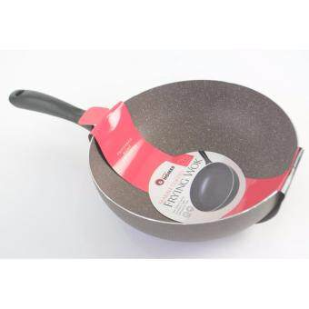 Harga Little Homes Marble Non-Stick Frying Wok 28cm