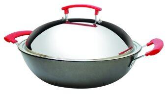 Harga Little Homes Non Stick Frying Wok Set 34cm Colour-Silver