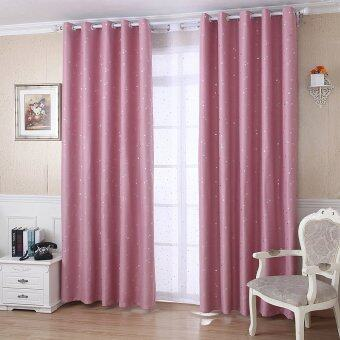 Little Stars Foil Print Blackout Curtain Pink
