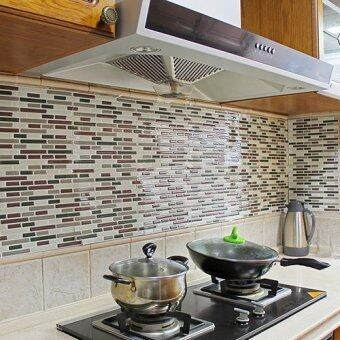 Harga Lovely Clover 3D Tile Pattern Kitchen Backsplash Stickers MuralWall Decals LCXYUZ (Color:As First Picture)