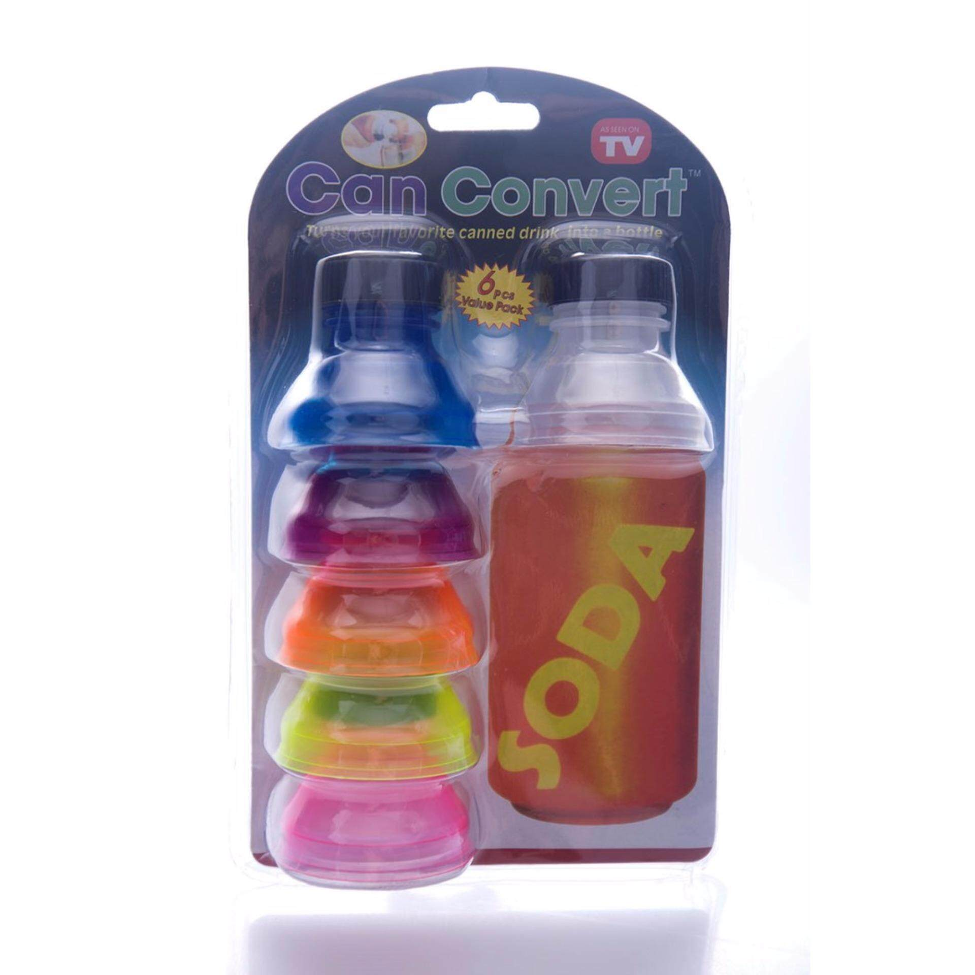 Luxury 6 Pcs Reusable Drinks Can Convert Bottle Caps Soda Savers Keeper Tool Washable