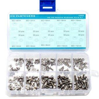Harga M2 M3 Hex Socket Cap Head Screws Hex Nuts Flat Washers AssortmentSet