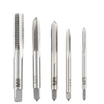 Harga M3 M4 M5 M6 M8 Straight Groove 3 Flute Spiral Point Plug Tap ThreadDrill Bit