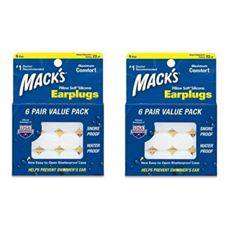 Buy Macks Pillow Soft Silicone Earplugs Value Pack, 6-Count Malaysia