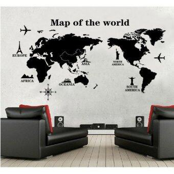 Harga Map of the World Removable PVC Decal Wall Sticker Home Decor ArtHot