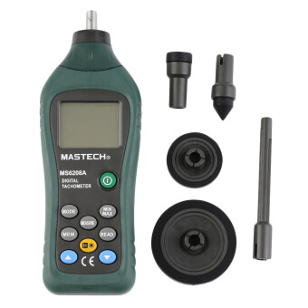 Harga MASTECH MS6208A Contact Digital Tachometer RPM Meter Rotation Speed50-19999RPM