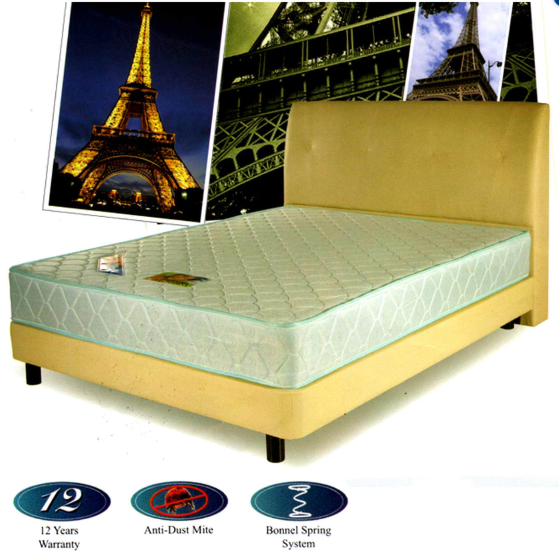 Masterfoam Paris Queen Semi-Firm Spring Mattress 8 inches Thick (12 Years Warranty)