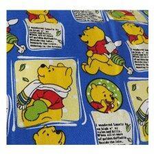 Matahari Curtain Fabric English Cotton Pooh And Friend Design