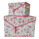 Maylee 2in1 Small n Medium Foldable Storage Box Pink Butterfly