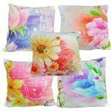 Maylee 5pcs Multicolour Flower Pillow Cases Set