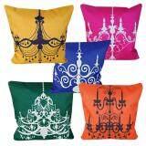 Maylee Decoratives Lamp Multicolour 5pcs Pillow Cases