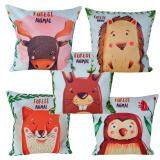 Maylee Forest Animals 5pcs Pillow Cases