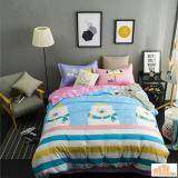 Maylee High Quality Fashion 4pcs Big White Bear Single Bedding Set With Bolster(FM-S-BEAR)