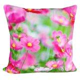 Maylee HIgh Quality Printed Lovely Pink Flower Pillow  Case