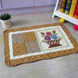 Maylee Patchwork Cotton Floor Mat Small Flower Bucket Brown 40*60