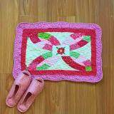 Maylee Patchwork Cotton Floor Mat Small Flower Pink 40*60
