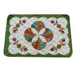 Maylee Patchwork Cotton Floor Mat Small Shell Green 40*60