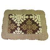 Maylee Patchwork Cotton Floor Mat Small Snow Flower Brown 40*60