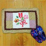 Maylee Patchwork Cotton Floor Mat Small Sweet Flower Brown 40*60
