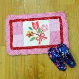 Maylee Patchwork Cotton Floor Mat Small Sweet Flower Pink 40*60