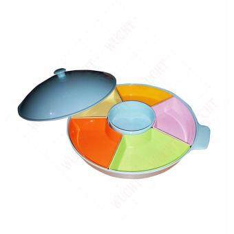 Melamine Revolving Dome Serving Set / Dome Set (Colorful) * FREE 2x Dinner Plate