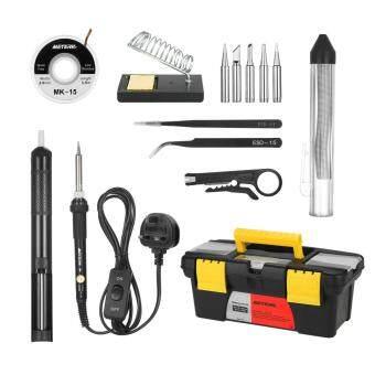 Meterk 14 in 1 Soldering Iron Kit 60W Adjustable Temperature Welding Soldering Iron with ON/