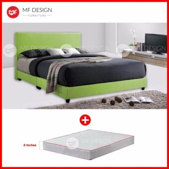 Harga MF DESIGN ALEX QUEEN SIZE Divan Bed Frame WITH HIGH QUALITY DAMASK 8 INCH QUEEN SIZE SPRING MATTRESS (DREAMPLUS)