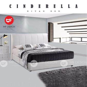 mf design cinderella king size divan bed frame white