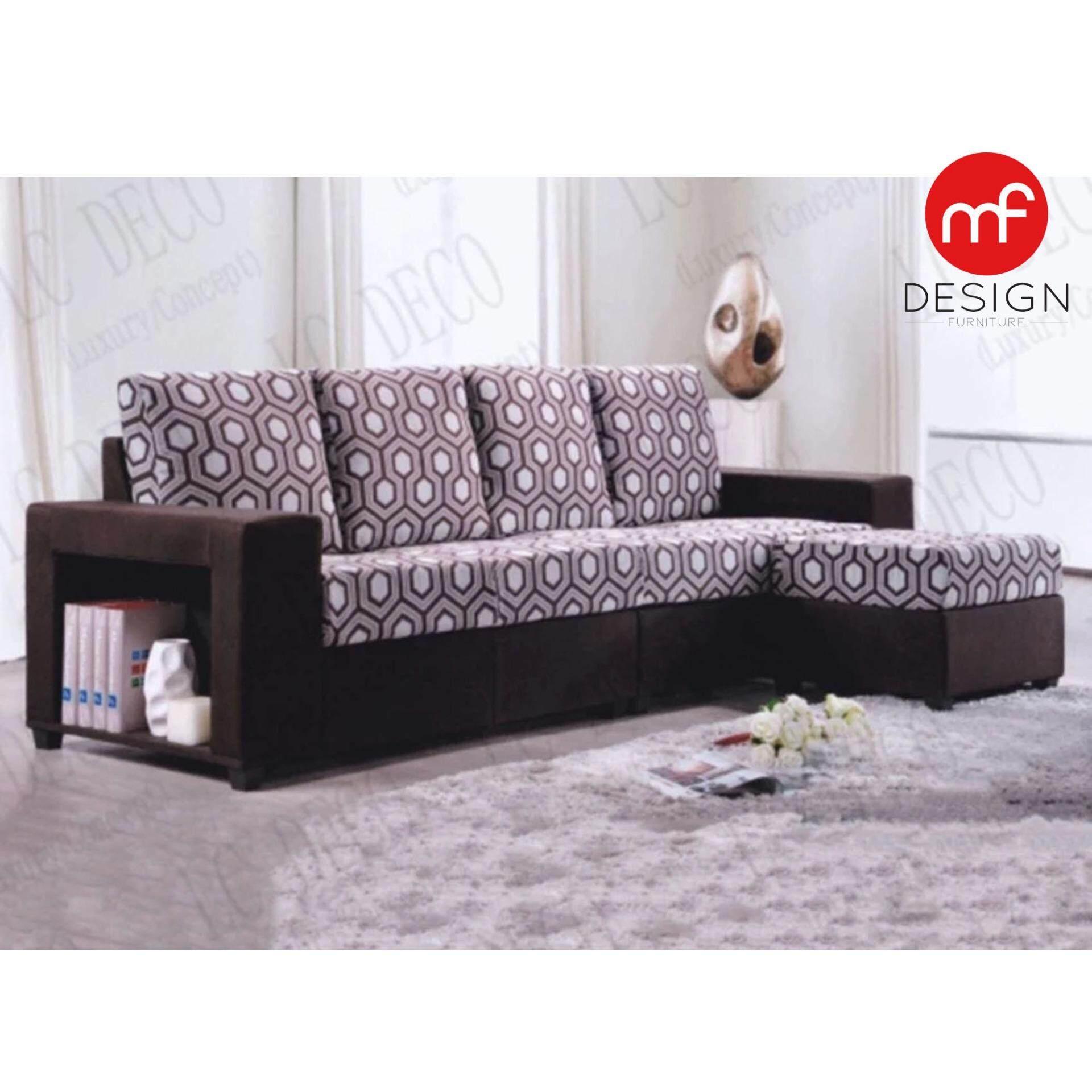 Sofa l shape murah malaysia home for Sofa bed penang