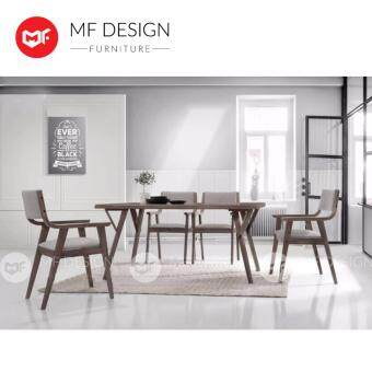 MF DESIGN EVONNE DINING TABLE WITH 6 CHAIR DINING CHAIR DINING SET 1+6