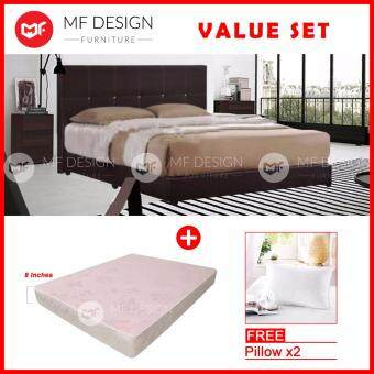 Harga MF DESIGN PROMOSI HOBBIT QUEEN BED+MATTRESS QUEEN CANFOAM