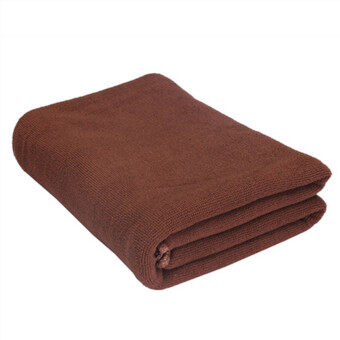 Microfibre Absorbent Sports Travel Gym Sport Beach Camping Quick Dry Bath Towel 137.5 x 67.5 CM Brown - 3