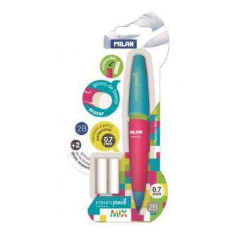 Milan Capsule Mix Mechanical Pencil 0.7mm + 2 Spare Erasers BlisterBYM10345