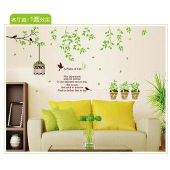 Mimosifolia Bird cage tree Wall Sticker Decal Wallpaper PVC MuralArt House Decoration Home Picture Wall Paper for Adult Kids