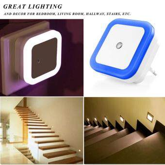 Mini Auto Night Lamp LED Light Built-in Light Sensor Control WhiteBedside Light Wall Lamp EU - 3