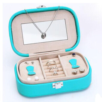 Harga Mini Jewelry Jewellery Box Container - Best Storage Box Gift forYour Necklace / Bracelet / Earrings / Pendants(Blue)