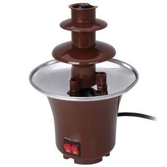 Mini Stainless Steel Chocolate Fountain Machine - Brown