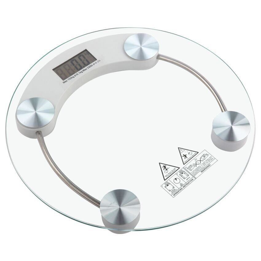 Modern Sleek Personal Digital Bathroom Scale Weighing
