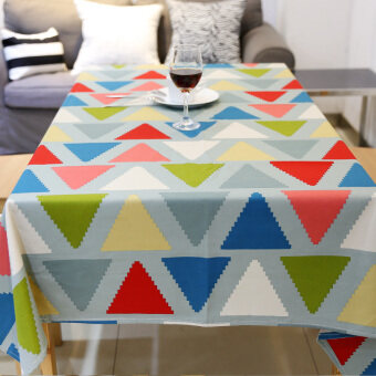 Modern minimalist color rectangular book tablecloth Fabric