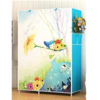 Harga Modern One-Piece Roll Up Curtain Clothes Wardrobe - Fairy Princess