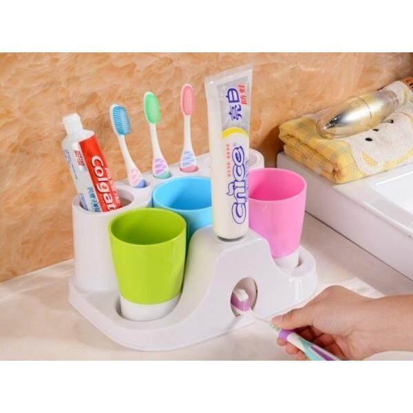 Modern Toothbrush Dispenser Set