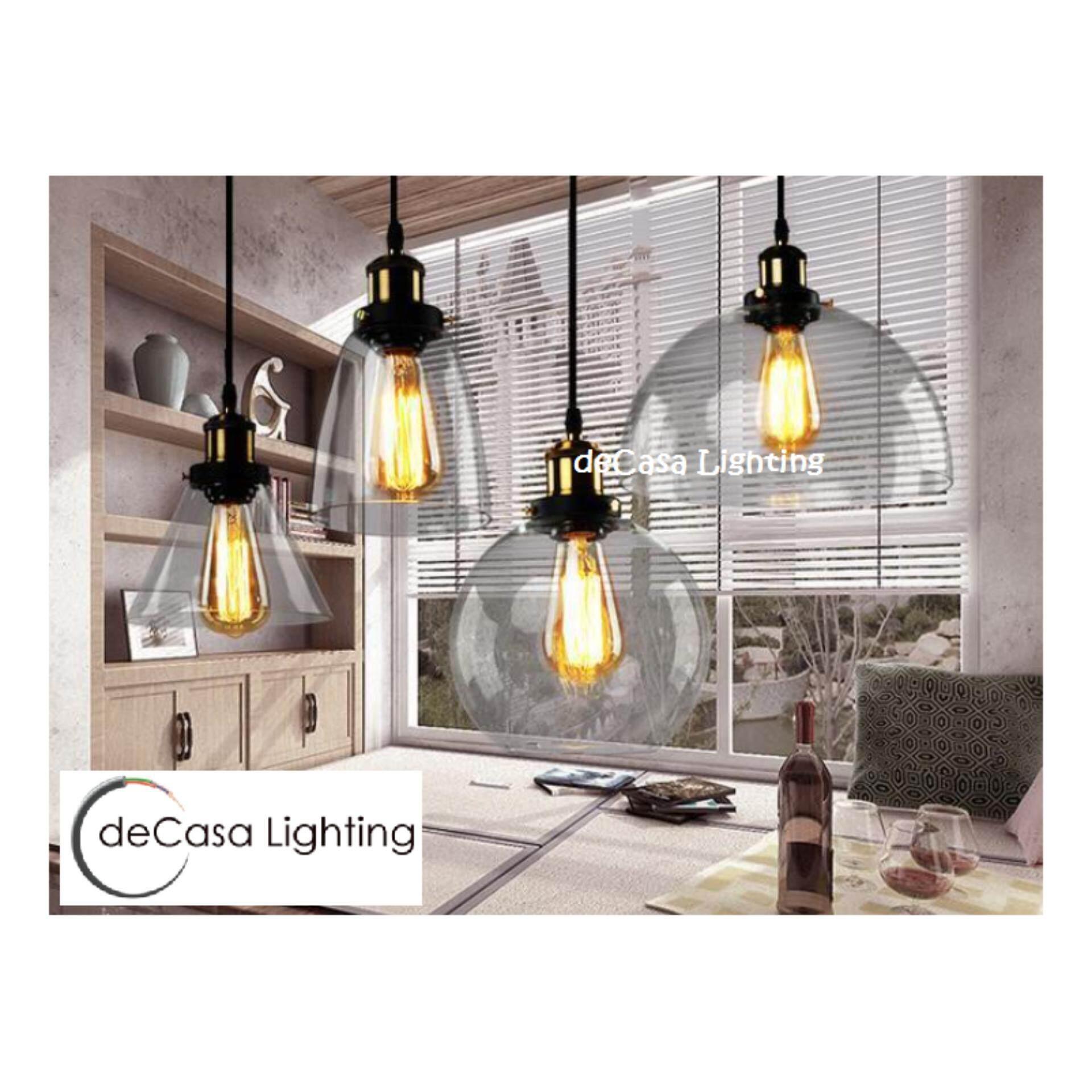 Modern Vintage Industrial Retro Decasa Loft Glass Ceiling Lamp Shade