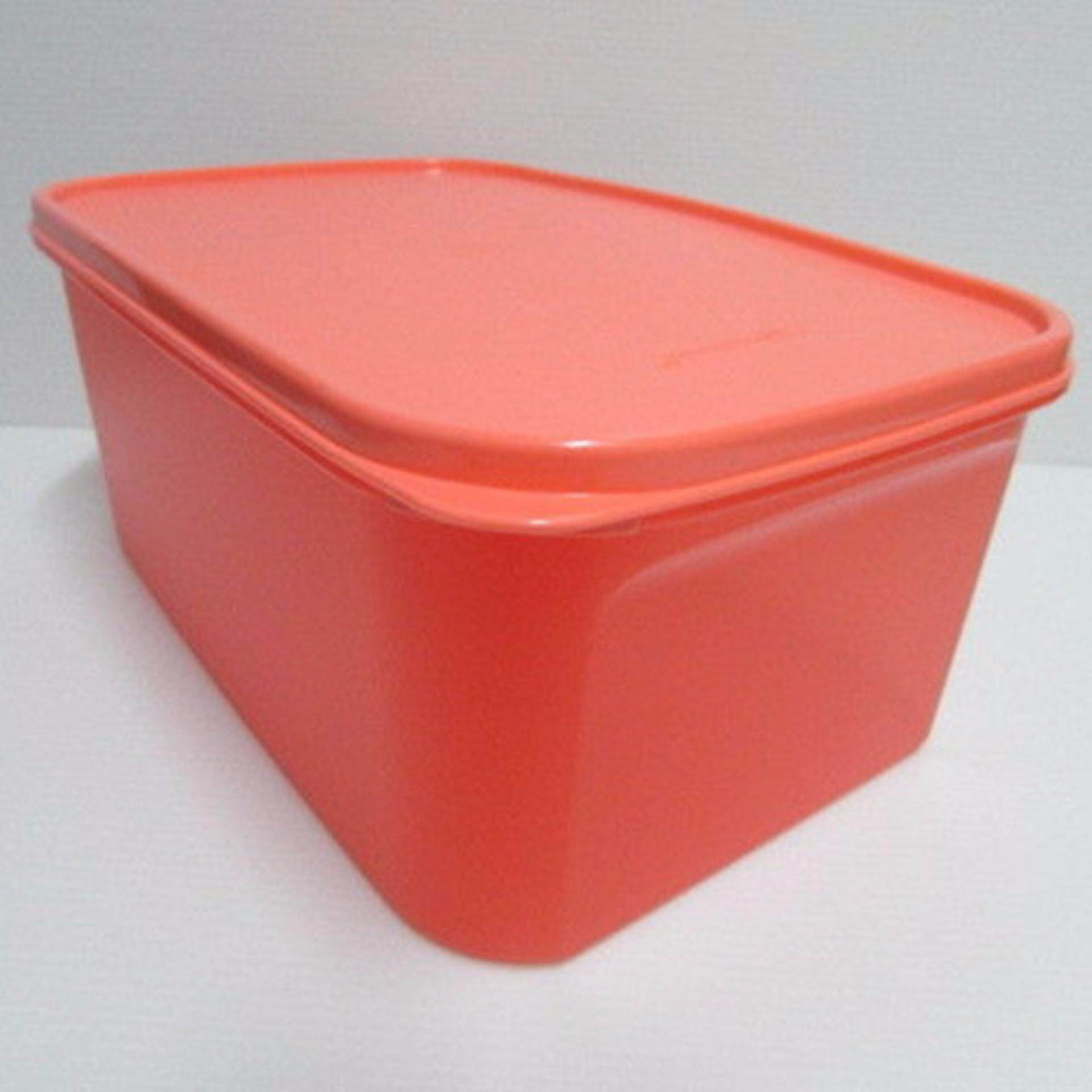 Tupperware Modular Mates Rectangular II (1) 4.3L - Melon Red