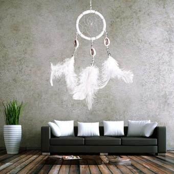 Monocyclic Teeth Dream Catcher Wall Hanging Home Car Decor (White) - 4