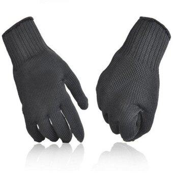 Harga Moonar Work Safty Free Size Stainless Steel Wire Safety WorksAnti-Slash Cut Resistance Gloves