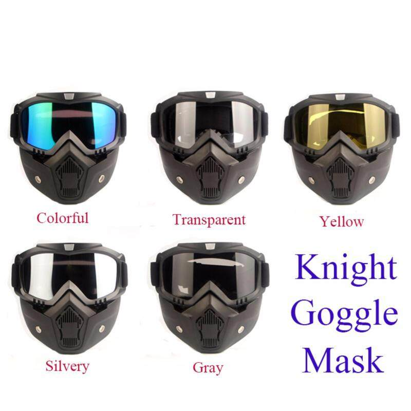 Buy Motorcyle Motorbike EyeGear Windproof Detachable Full Face Eye Goggle Mask Malaysia