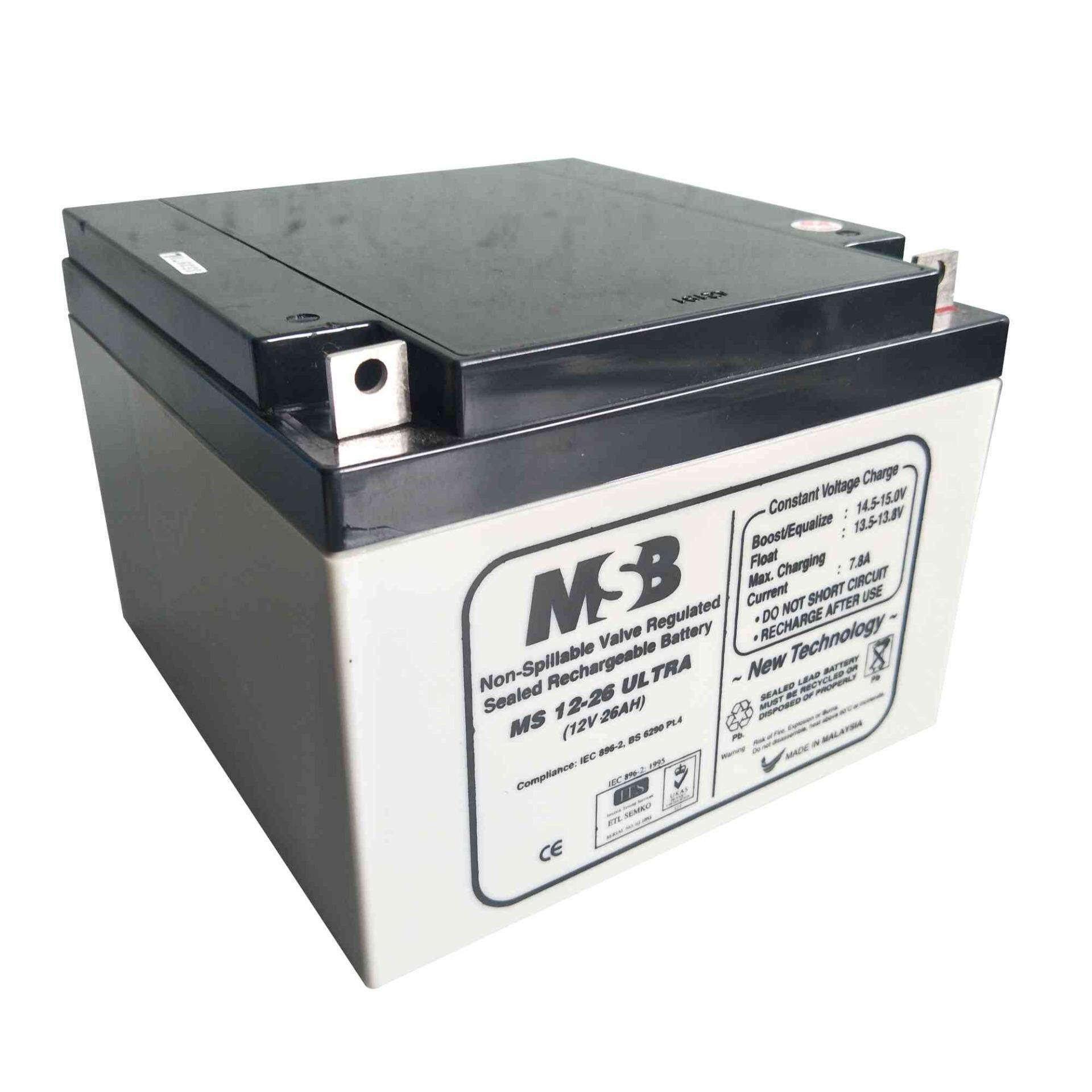 MSB ULTRA 12V 26AH Sealed VRLA Battery