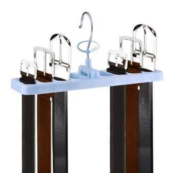 Multi Function Tie Rack Belt Scarf Hanger Holder Closet(Blue)